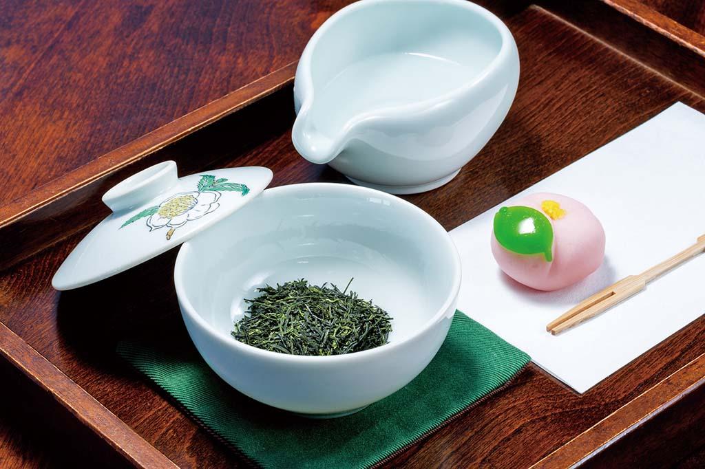 八女茶席のしずく茶(和菓子付き)600円(税込)