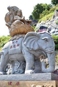 6本の牙を持つ白い象に乗った普賢菩薩