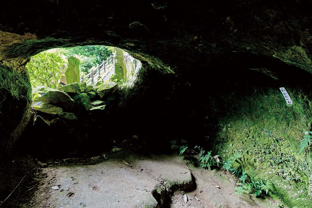 洞窟出口から外を見る。日差しの温もりに感謝する瞬間だ